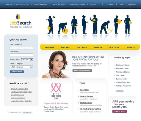 Job Portal Website Template 17389 Career Website Templates Free