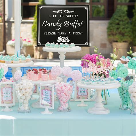 JennyGems Candy Buffet Wood Box Sign for Weddings
