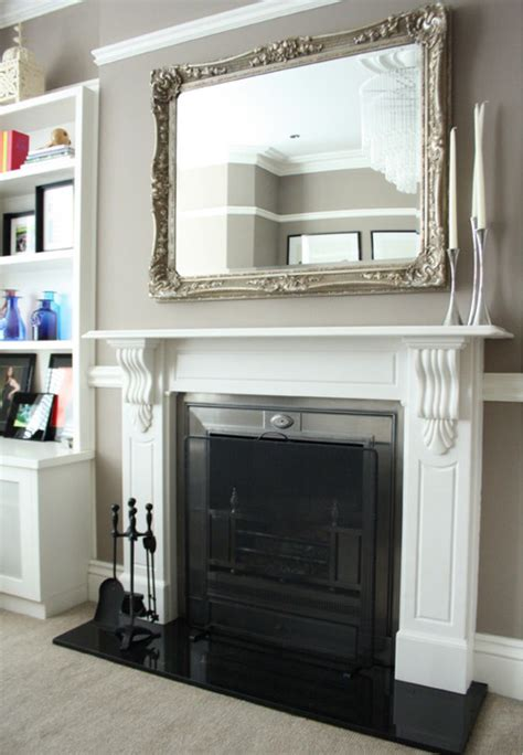 mirror above fireplace home sweet home
