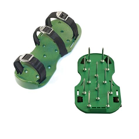 lawn aerator shoes heavy duty pair spiked shoes lawn yard aerator