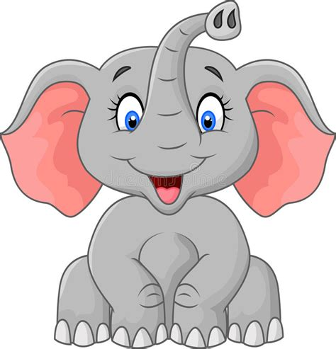 imagenes de up art cute elephant cartoon sitting stock vector illustration