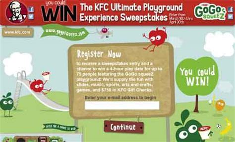 Kfc Sweepstakes - kfc com lilbucket kfc ultimate playground experience sweepstakes