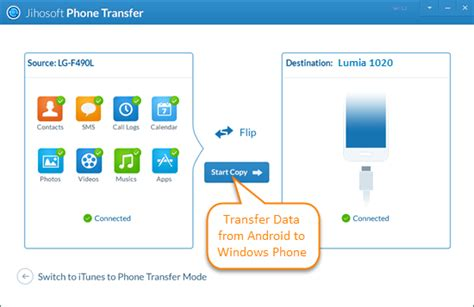how to transfer data from android to android 4 ways to transfer data from android to windows phone