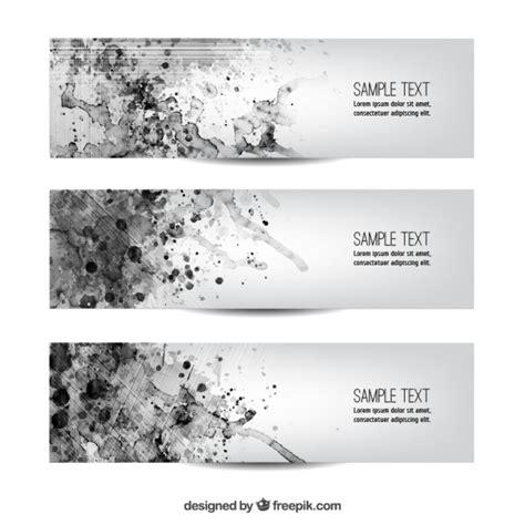 minimalist design banner minimalist watercolor banners vector free download