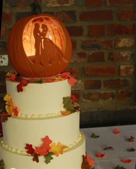 Places That Make Wedding Cakes by 22 Pumpkin Wedding Cake Ideas For Fall Crazyforus