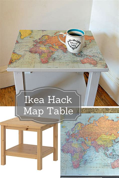 ikea table top hack how to make a map table an ikea hack pillar box blue