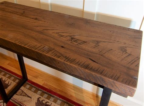 custom sofa table buy a custom made reclaimed wood sofa table rustic