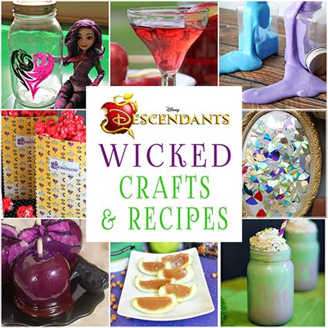 House Planners by 20 Wicked Disney Descendants Crafts And Recipes Glitter