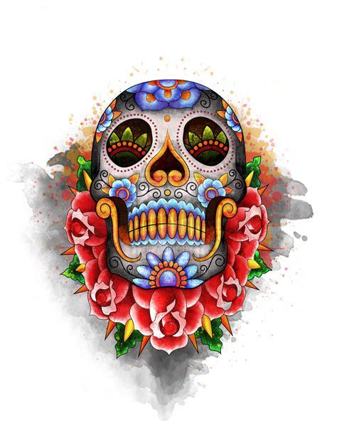 sugar skull sugar skulls d 237 a muertos illustrations on