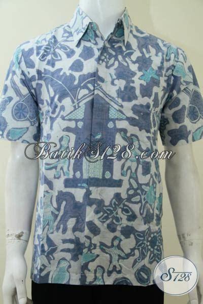 Baju Gamis Pria Unik Baju Batik Unik Motif Kompeni Kemeja Pria Maskulin Elegan