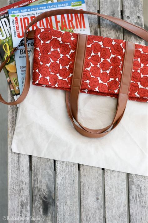 pattern for fold up tote bag fold over tote tutorial tote bag upgrade tote bag