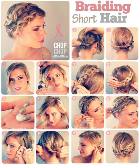 how to braid short hair step by step 10 fabulous hair tutorials for short hair