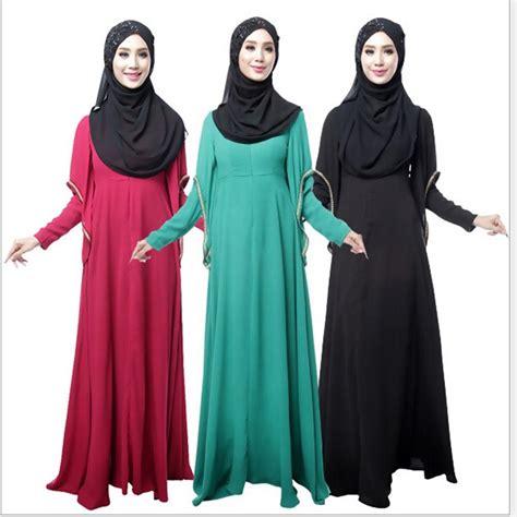 Kaftan Muslim Gamis Tunik Muslimah Muslim Maxi Abaya sleeve kaftan abaya jilbab islamic muslim