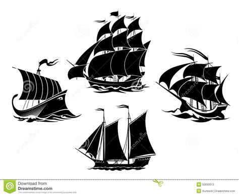 dessin bateau silhouette silhouettes de voiliers et de bateaux de navigation