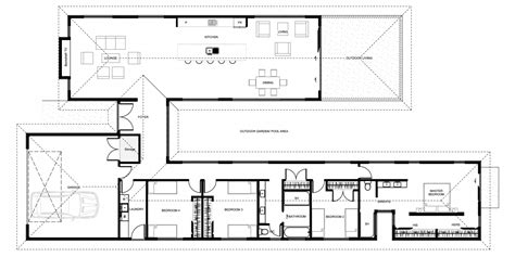 H Shaped House Floor Plans | floor plan friday 4 bedroom h shaped home
