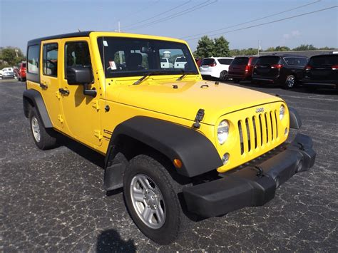 yellow jeep wrangler unlimited 2015 jeep wrangler unlimited sport rhd for sale 10 used