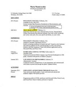 College Resume Templates Free by Resume In College Obfuscata