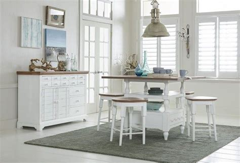 shutters light oak  distressed white counter height