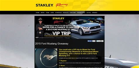 ford mustang sweepstakes giveaway - Ford Mustang Sweepstakes