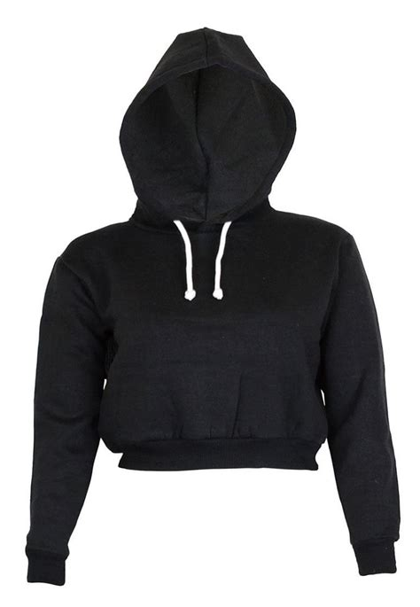 Plain Cropped Hoodie womens plain crop top hoodies co uk clothing