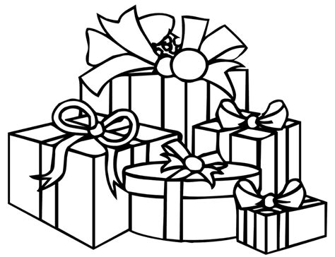 printable gift coloring page christmas present coloring pages animebgx