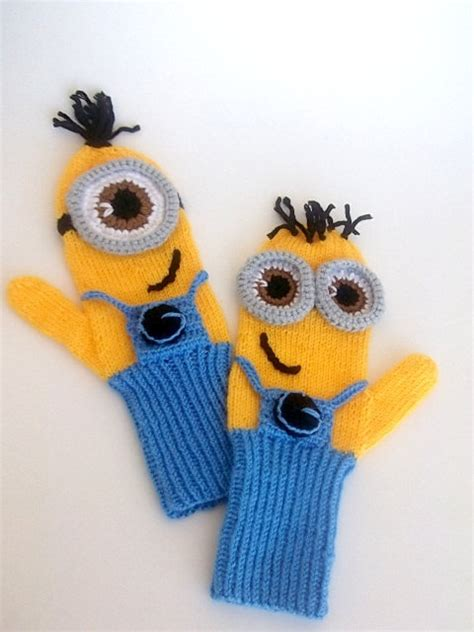 knitting pattern minion despicable me knitted minion gloves pattern images