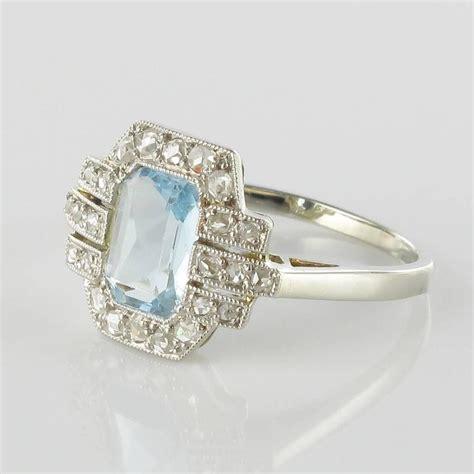 deco aquamarine rings deco aquamarine and ring for sale at 1stdibs