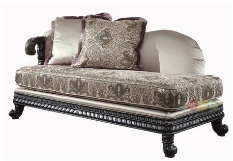 traditional chaise lounge florence traditional chaise lounge dark exposed wood frame 618