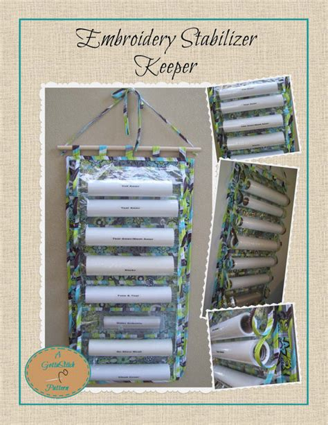 pattern for stabilizer holder embroidery stabilizer keeper pattern instant download