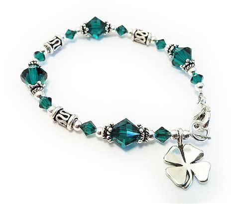 four leaf clover charm luck bracelet 4 leaf shamrock bracelet sass experience