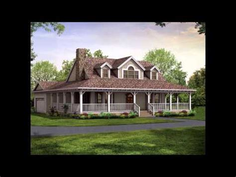house plans with porch all around wrap around porch house plans youtube