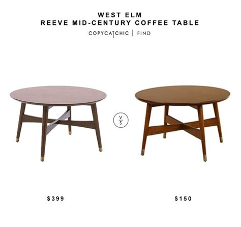 west elm round table west elm reeve mid century coffee table 399 vs overstock