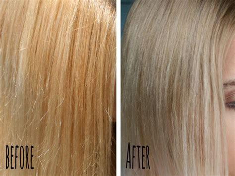 neue haare gelbstich aus blondem haar entfernen momo