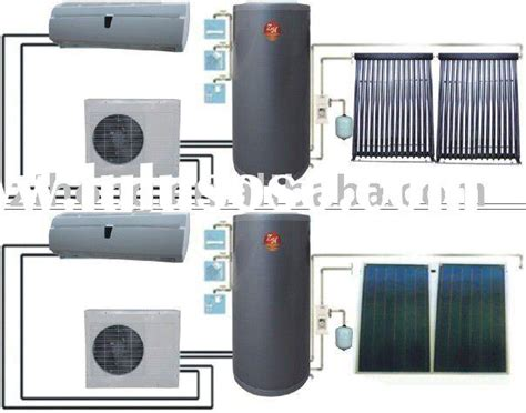 Water Heater Air Conditioner solar air conditioner and solar water heater solar air