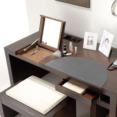 flip top vanity desk flip top mirror turns workstation into vanity desk
