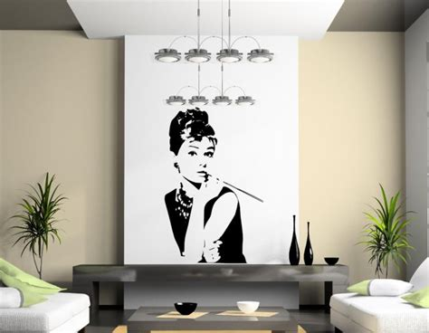 hepburn wall stickers hepburn silhouettes large vinyl wall decoration wall stickers store uk shop with wall