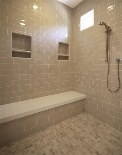 subway tile bathroom shower shower with gray subway tiles transitional bathroom
