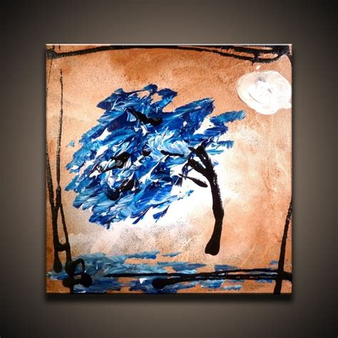 easy modern paintings easy abstract tree painting wallmaya