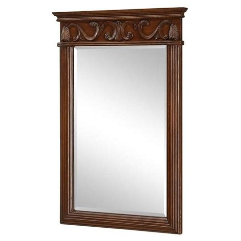 elegant bathroom mirrors elegant lighting danville 25 quot vanity mirror in brown vm 1007