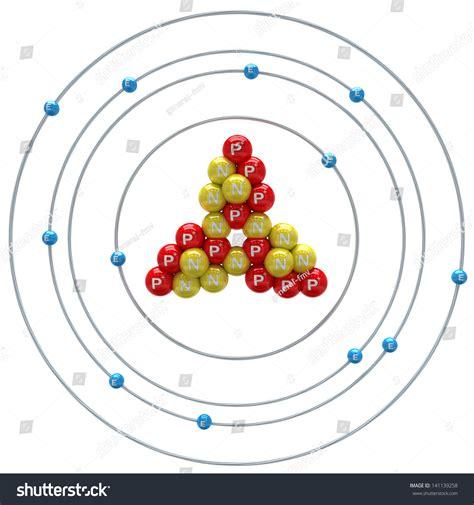Protons Of Magnesium by Magnesium Atom On White Background Stock Illustration