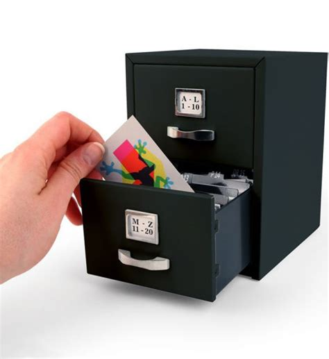 Business Card File Cabinet by Business Card File Cabinet In Desk Accessories