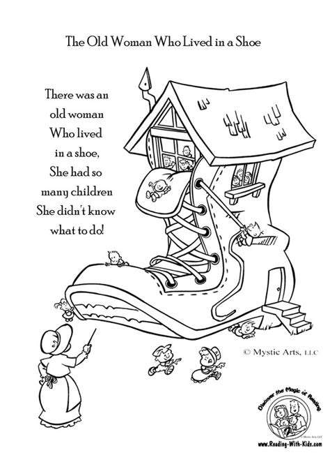 free coloring pages of buckle my shoe 1 2