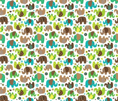 cute pattern fabric cute retro kids elephant pattern fabric fabric