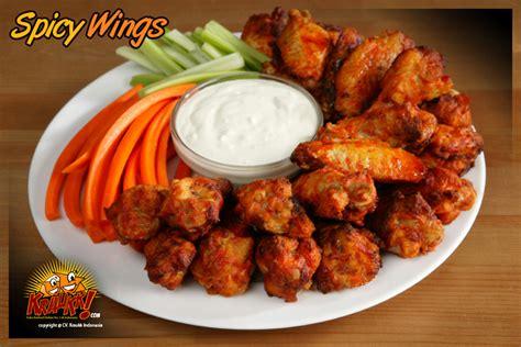 Spicy Wing Kraukk produk spicy wings frozen food kraukk lauk praktis