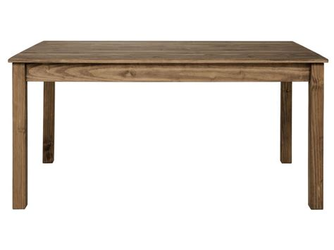 table rectangulaire avec allonge 220 cm max along en pin