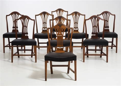 Antique Upholstered Dining Chairs Antique Horsehair Upholstered Dining Chairs Set Of 8 For Sale At Pamono