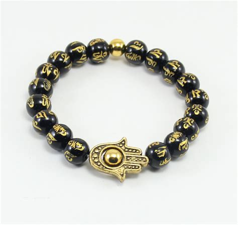 unique charms for jewelry bb0340 unique charm buddha bracelet black onyx bracelet