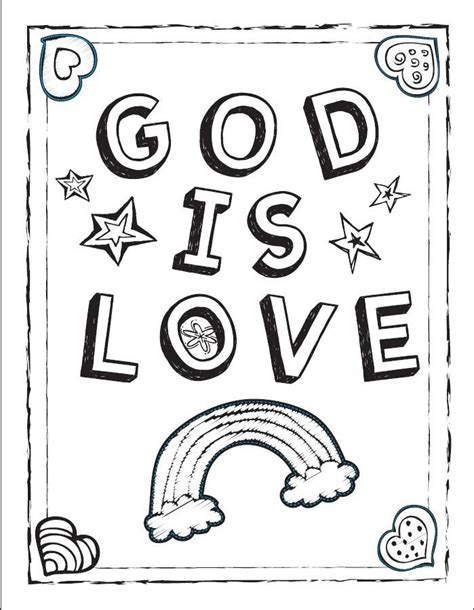 coloring pages i love god god is love coloring sheet