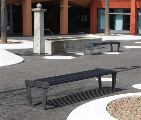 city bench type v with backrest exterior benches from