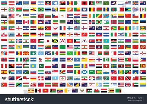 flags of the world free vector flags world vector illustration stock vector 261110216